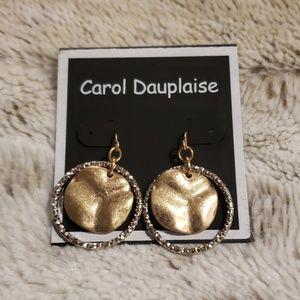 NWOT - Silver & Gold Disc Earrings